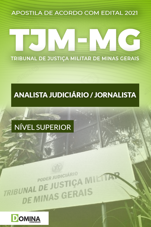 Apostila Concurso TJM MG 2021 Analista Judiciário Jornalista