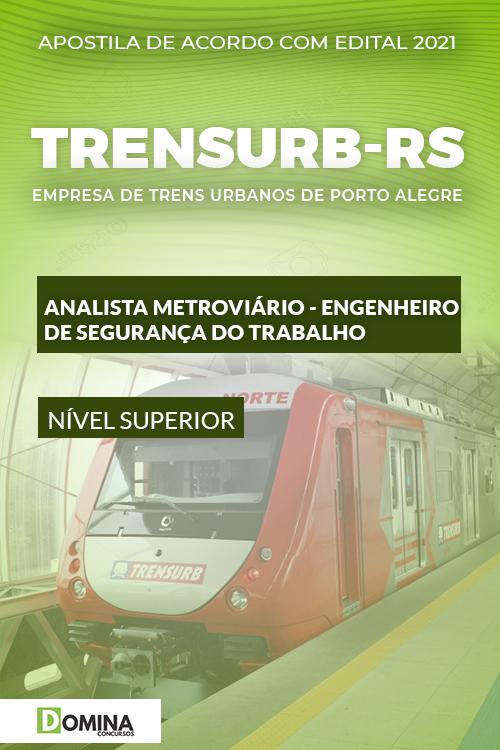 Apostila TRENSURB RS 2021 Analista Metroviário ENG Segurança