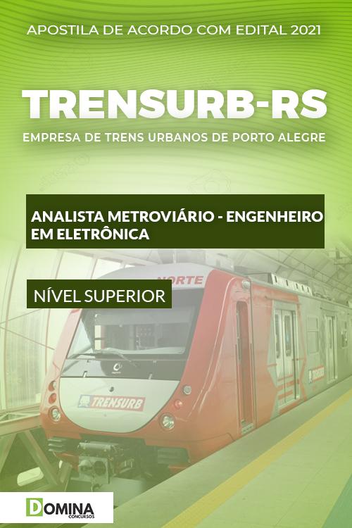 Apostila TRENSURB RS 2021 Analista Metroviário ENG Eletrônica