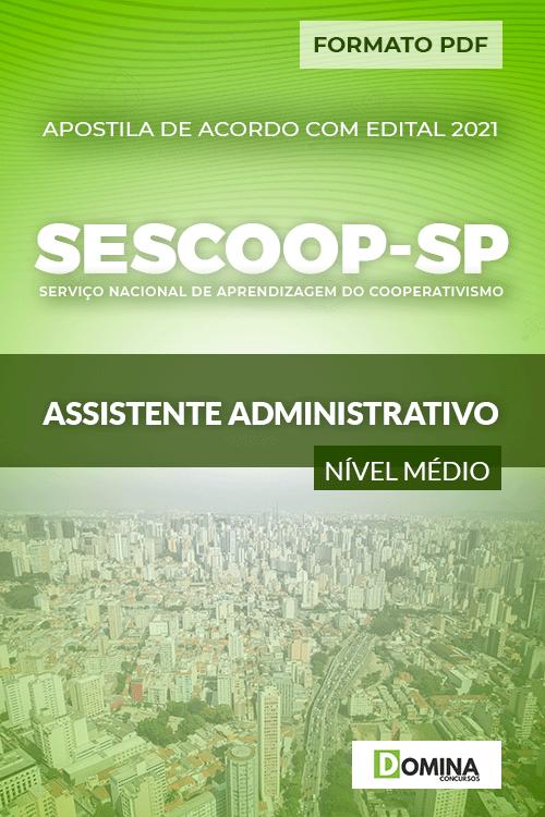 Apostila Seletivo SESCOOP SP 2021 Assistente Administrativo