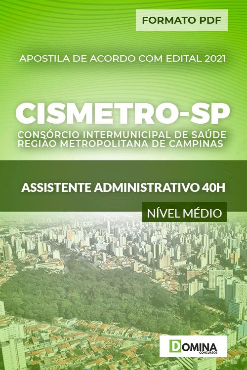 Apostila Seletivo CISMETRO SP 2021 Assistente Administrativo