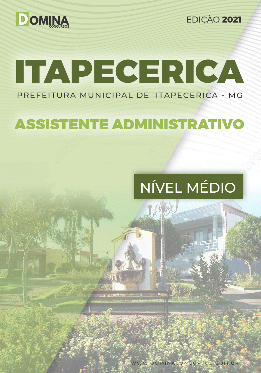 Apostila Pref Itapecerica MG 2021 Assistente Administrativo