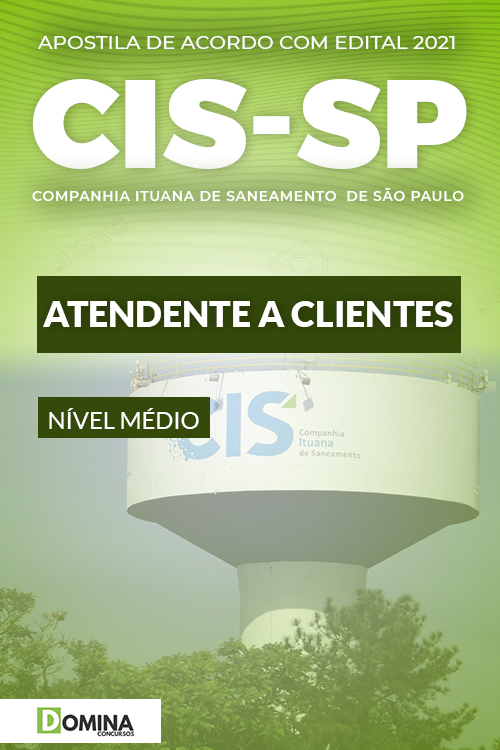 Apostila Concurso Público CIS SP 2021 Atendente a Clientes