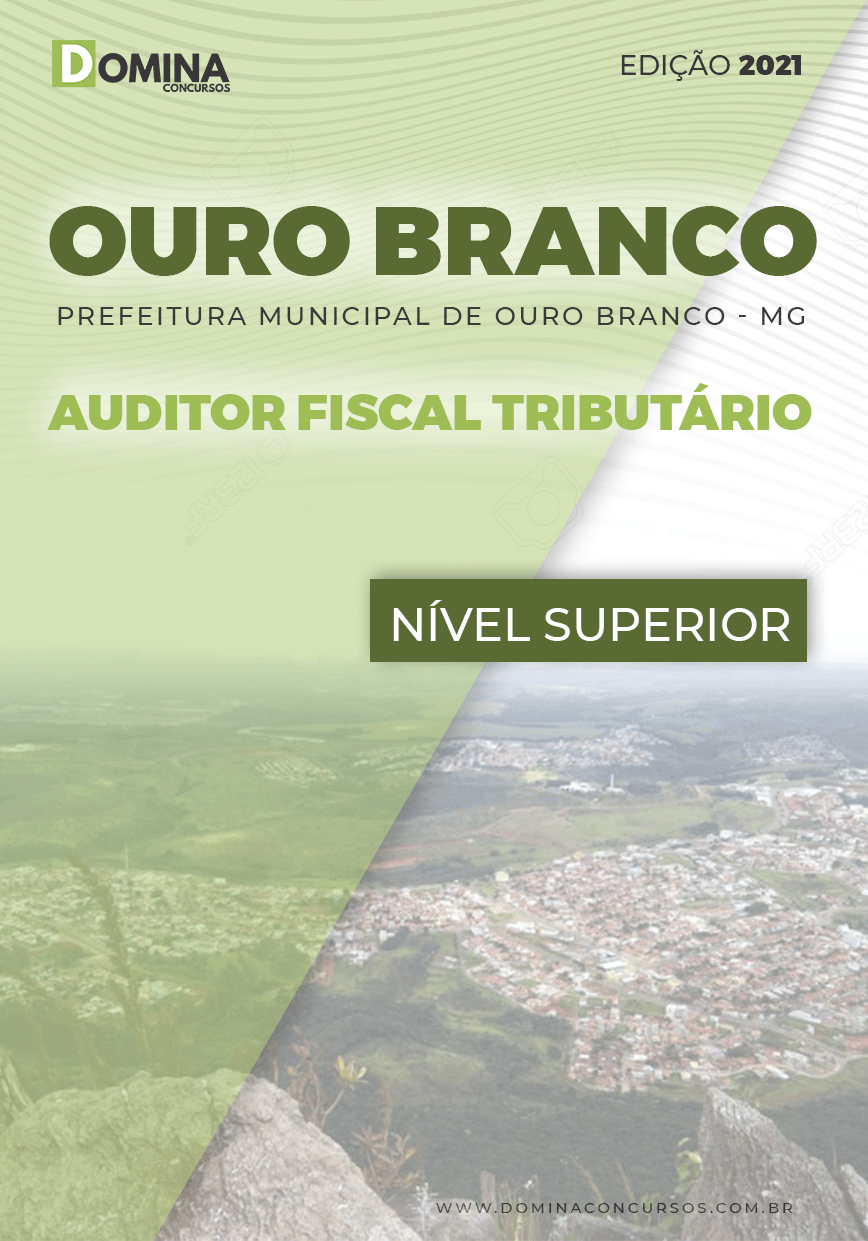 Apostila Pref Ouro Branco MG 2021 Auditor Fiscal Tributário