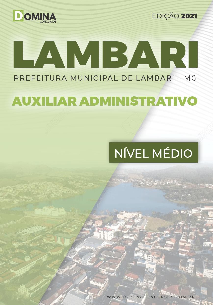 Apostila Concurso Pref Lambari MG 2021 Auxiliar Administrativo