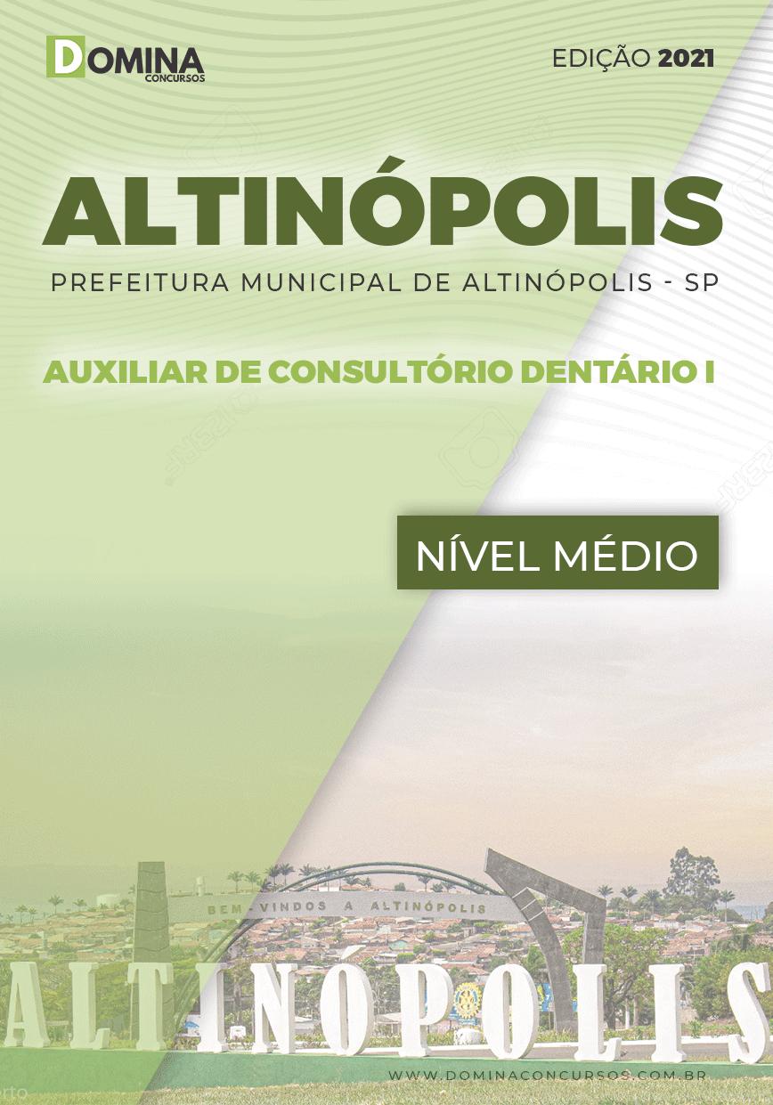 Apostila Pref Altinópolis SP 2021 Auxiliar Consultório Dentário I