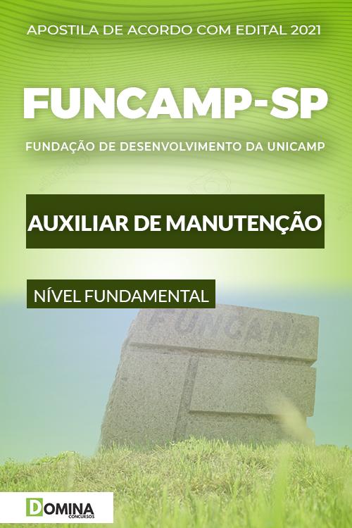 Apostila Seletivo FUNCAMP SP 2021 Auxiliar de Manutenção