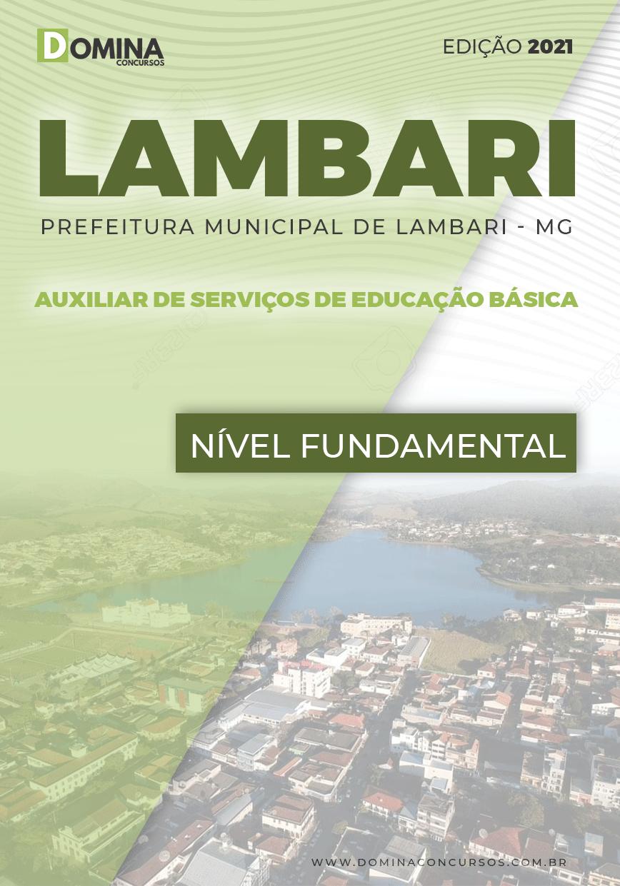 Apostila Pref Lambari MG 2021 Auxilia Serviços Educação Básica