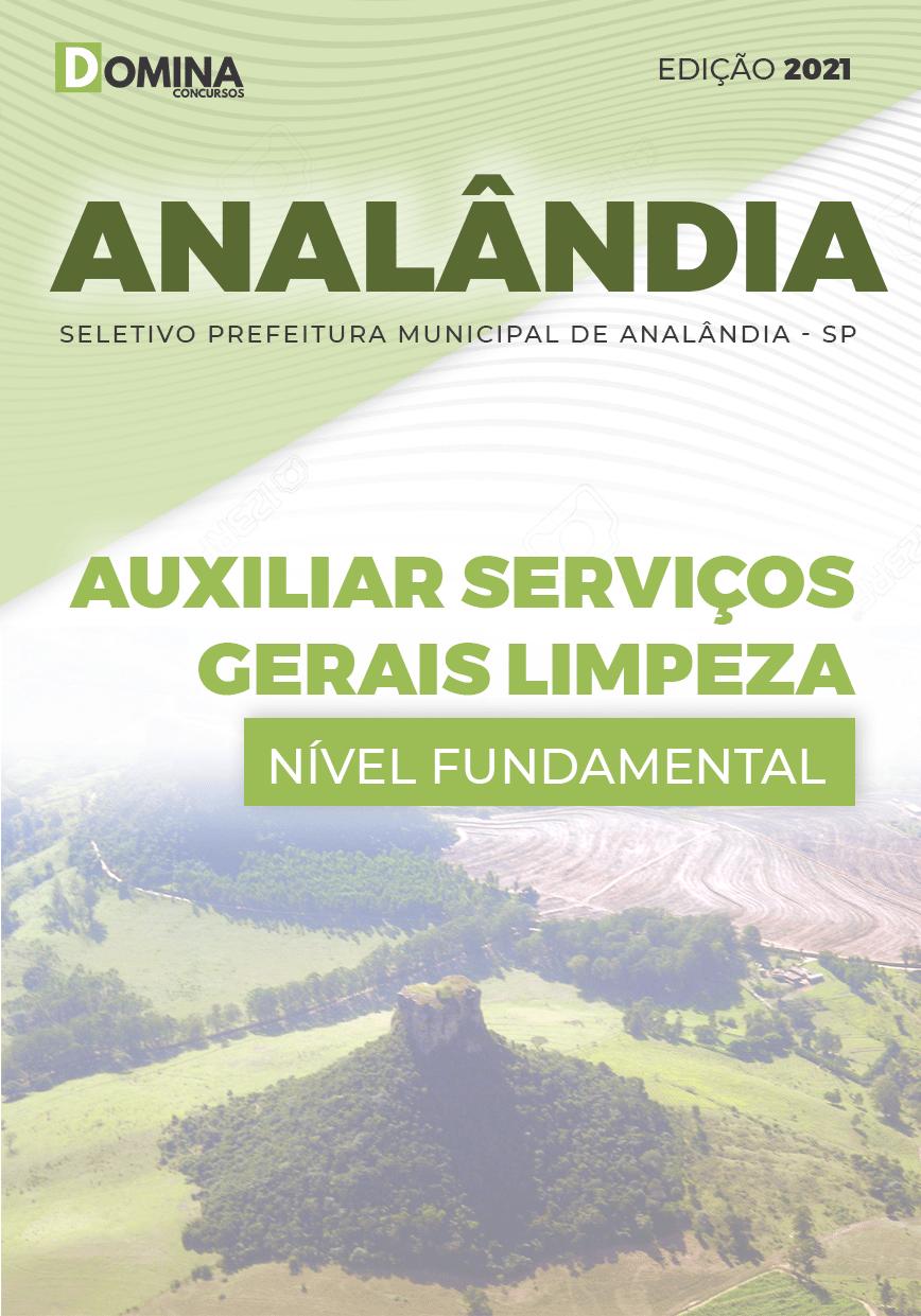 Apostila Seletivo Pref Analândia SP 2021 Auxiliar Serviços Gerais