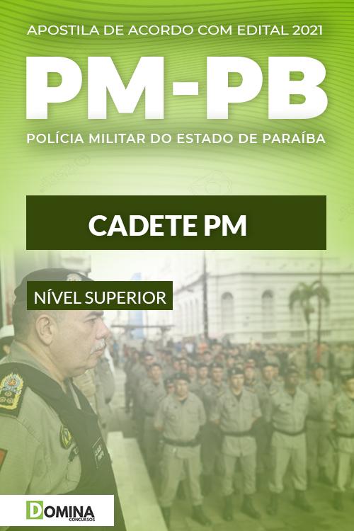 Apostila Concurso Polícia Militar PM PB 2021 Cadete PM