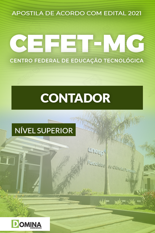 Apostila Concurso Público CEFET MG 2021 Contador