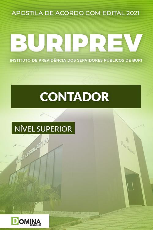 Apostila Concurso Público Buriprev SP 2021 Contador