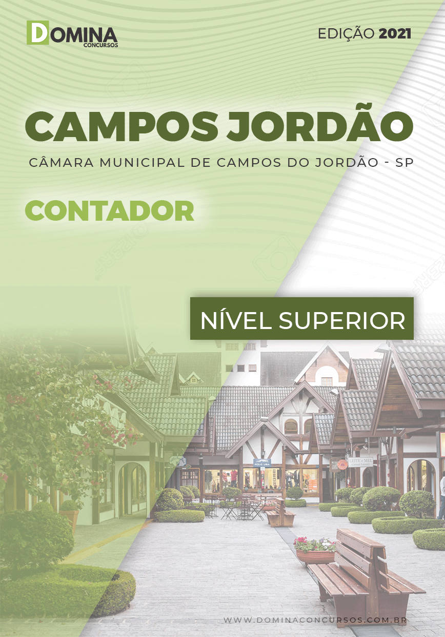 Apostila Concurso Câmara Campos Jordão SP 2021 Contador