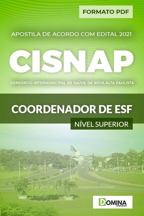 Apostila Processo Seletivo CISNAP SP 2021 Coordenador de ESF