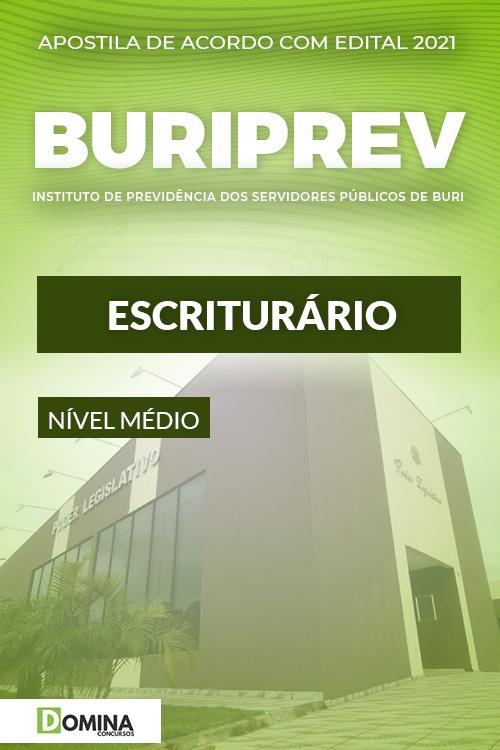 Apostila Concurso Público Buriprev SP 2021 Escriturário