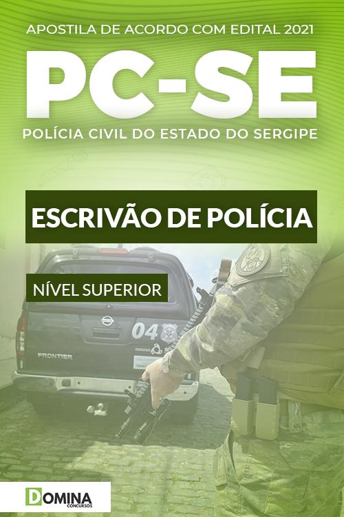 Apostila PC SE Polícia Civil Sergipe 2021 Escrivão de Polícia