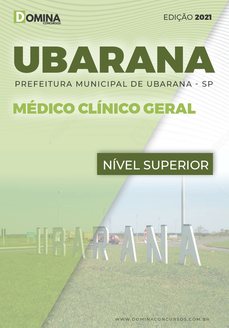 Apostila Concurso Pref Ubarana SP 2021 Médico Clínico Geral