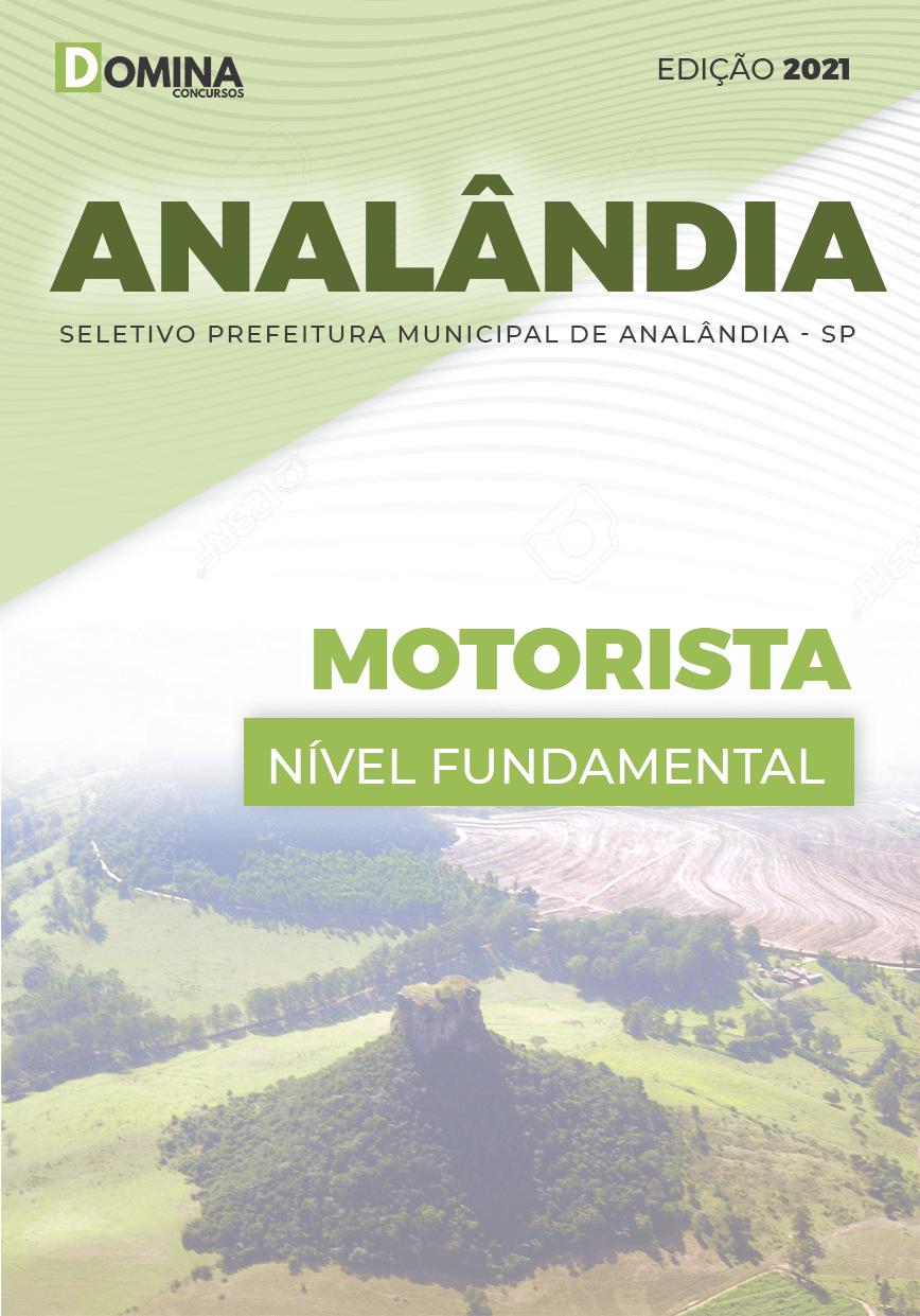 Apostila Processo Seletivo Pref Analândia SP 2021 Motorista