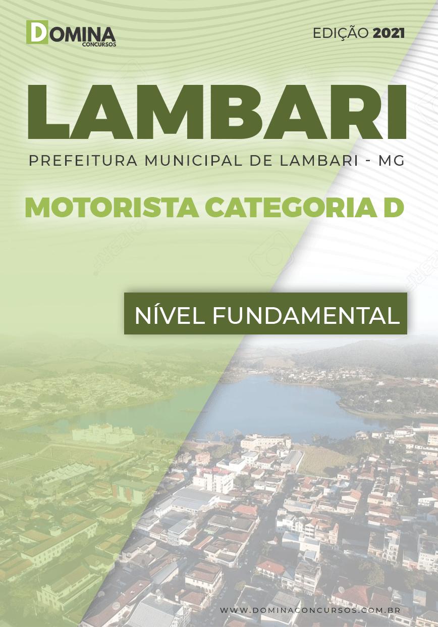 Apostila Concurso Pref Lambari MG 2021 Motorista Categoria D