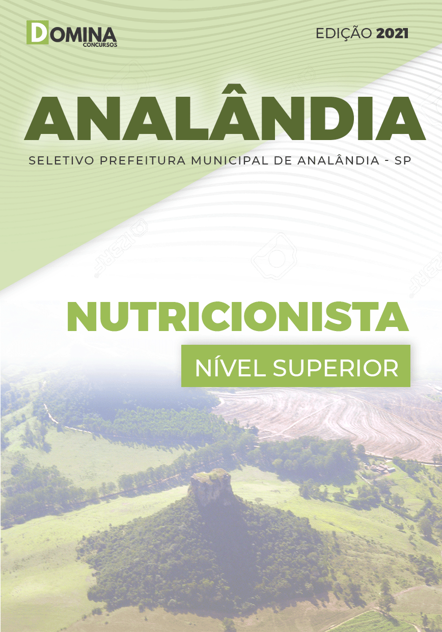 Apostila Processo Seletivo Pref Analândia SP 2021 Nutricionista