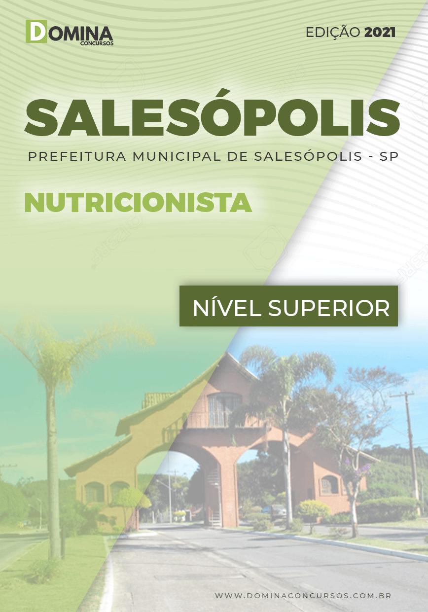 Apostila Concurso Pref Salesópolis SP 2021 Nutricionista