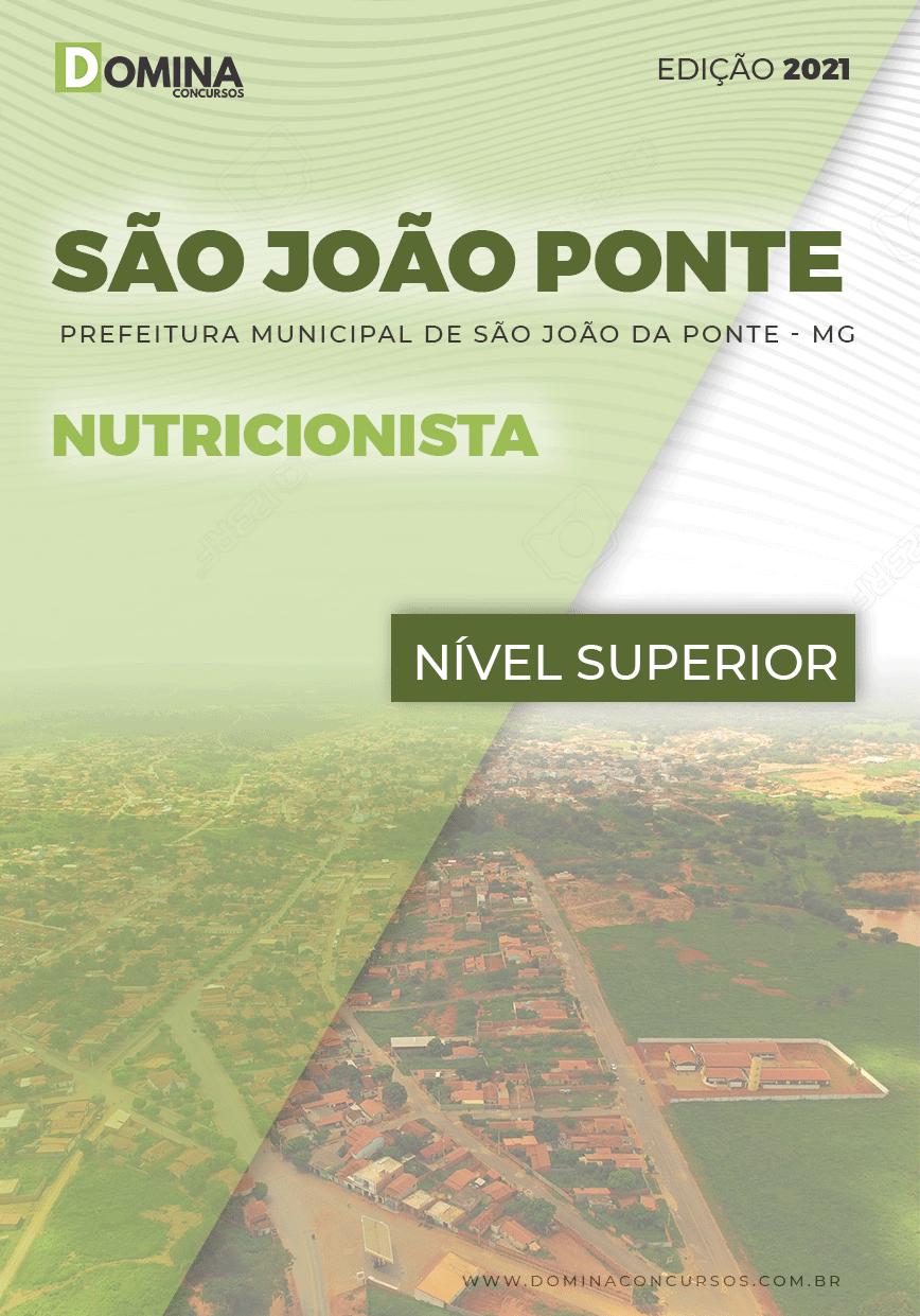 Apostila Concurso Pref São João Ponte MG 2021 Nutricionista