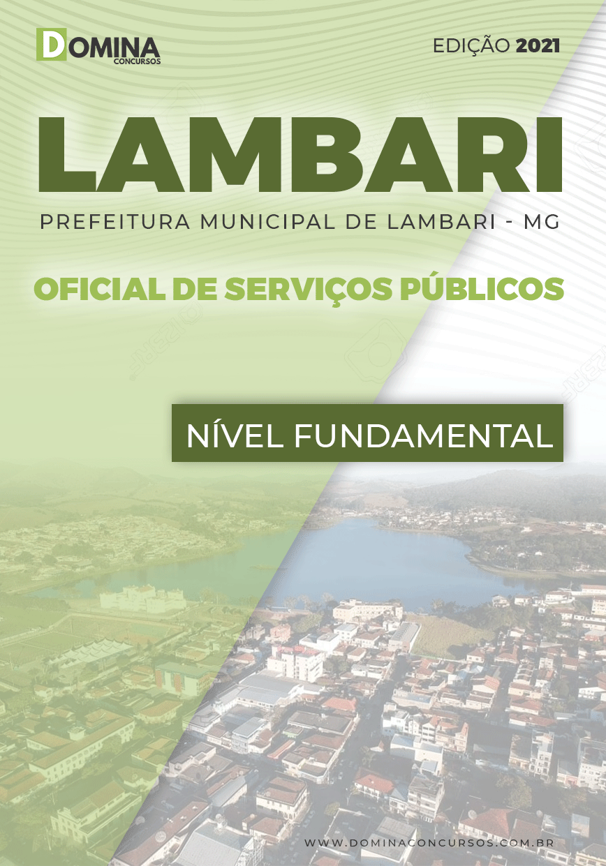 Apostila Pref Lambari MG 2021 Oficial de Serviços Públicos