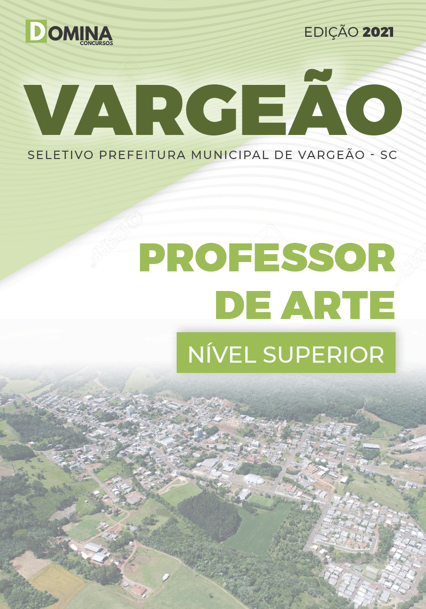 Apostila Seletivo Pref Vargeão SC 2021 Professor de Arte