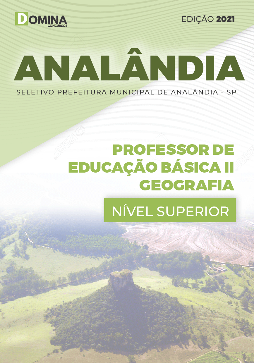 Apostila Seletivo Pref Analândia SP 2021 Professor II Geografia