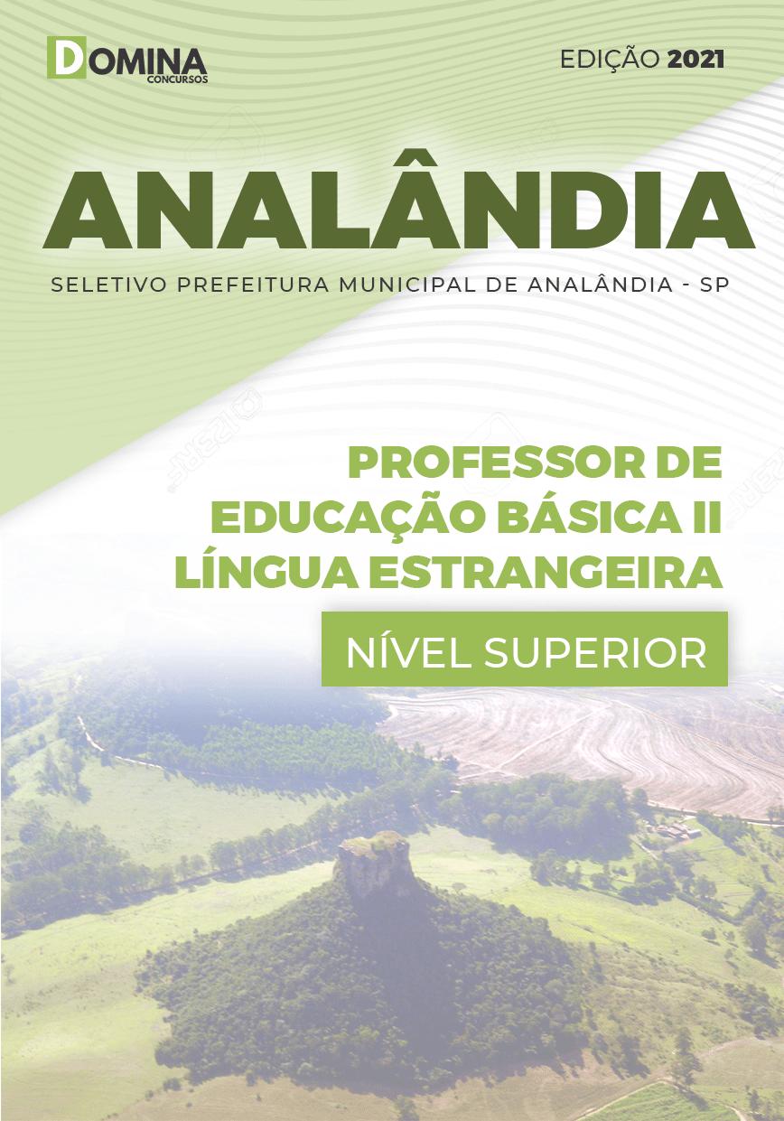 Apostila Pref Analândia SP 2021 Professor II Língua Estrangeira