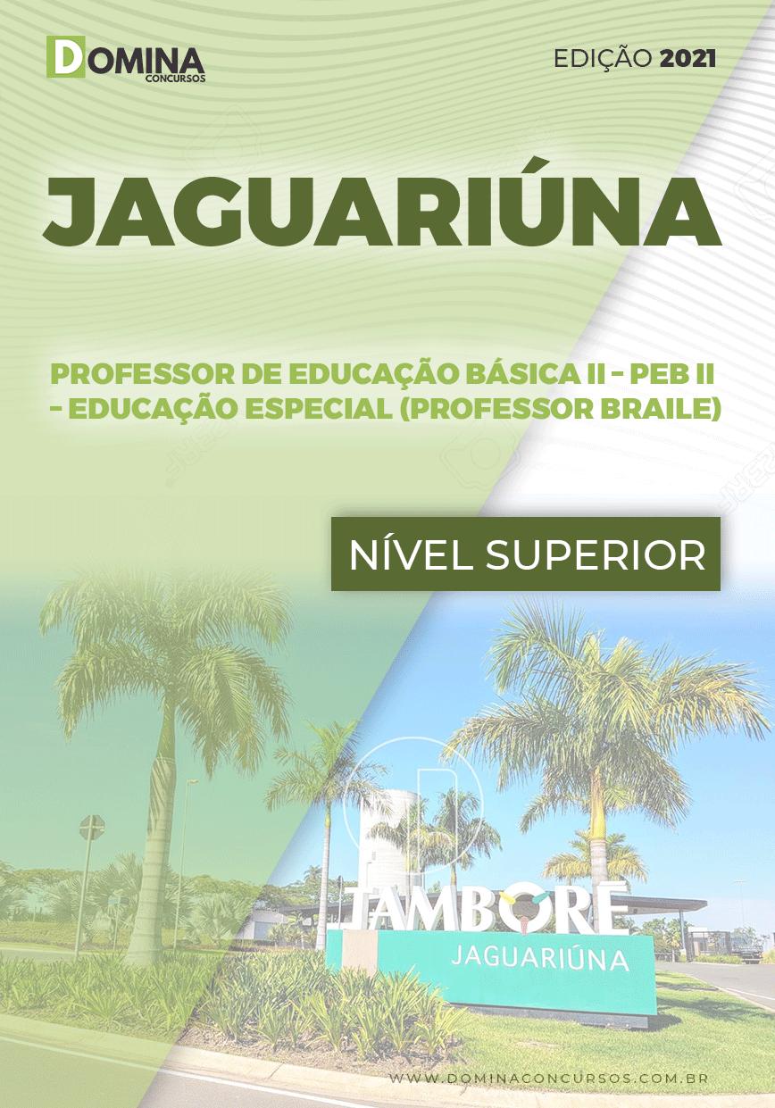Apostila Pref Jaguariúna SP 2021 Prof Educação II Professor de Braile