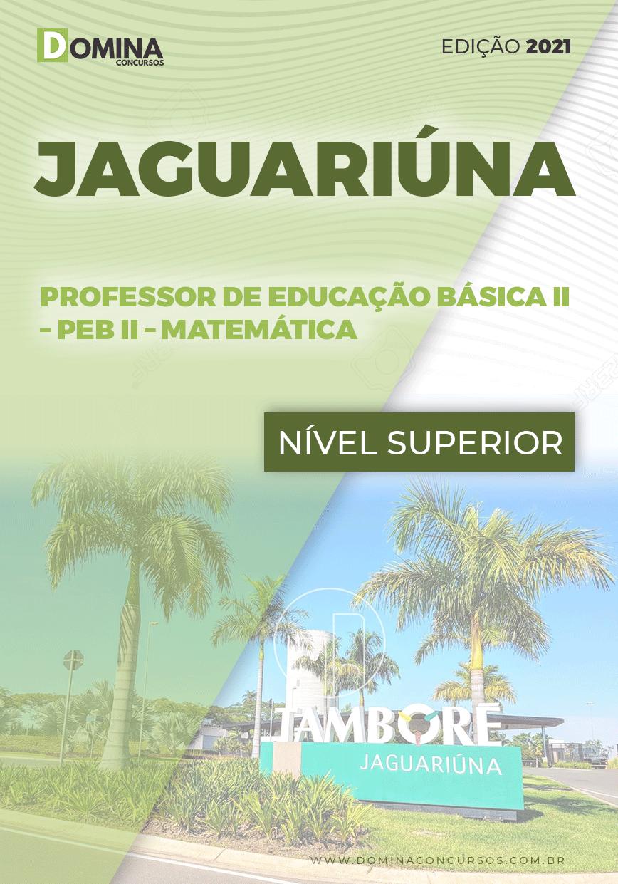 Apostila Pref Jaguariúna SP 2021 Professor Educação II Matemática