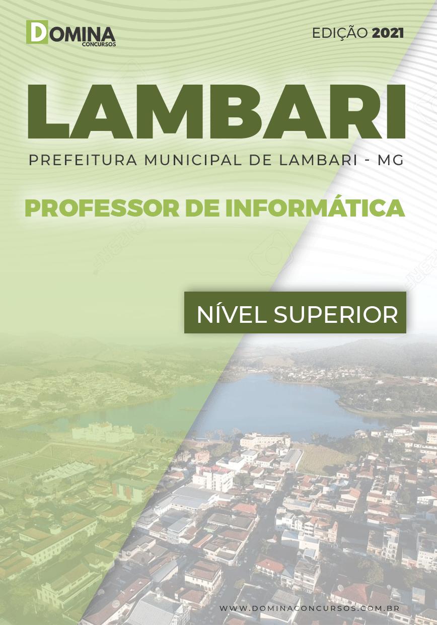 Apostila Concurso Pref Lambari MG 2021 Professor de Informática