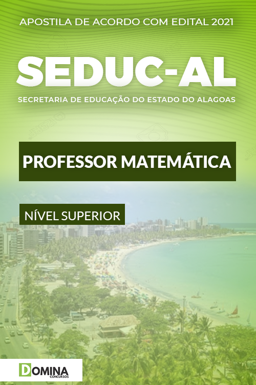 Apostila Concurso Público SEDUC AL 2021 Professor Matemática