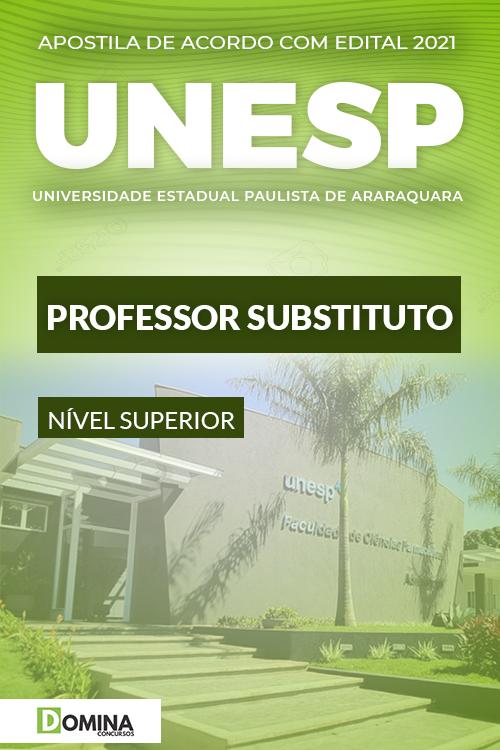 Apostila UNESP Araraquara SP 2021 Professor Substituto