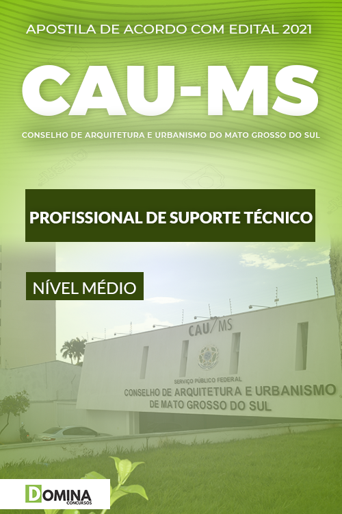 Apostila Concurso CAU MS 2021 Profissional de Suporte Técnico
