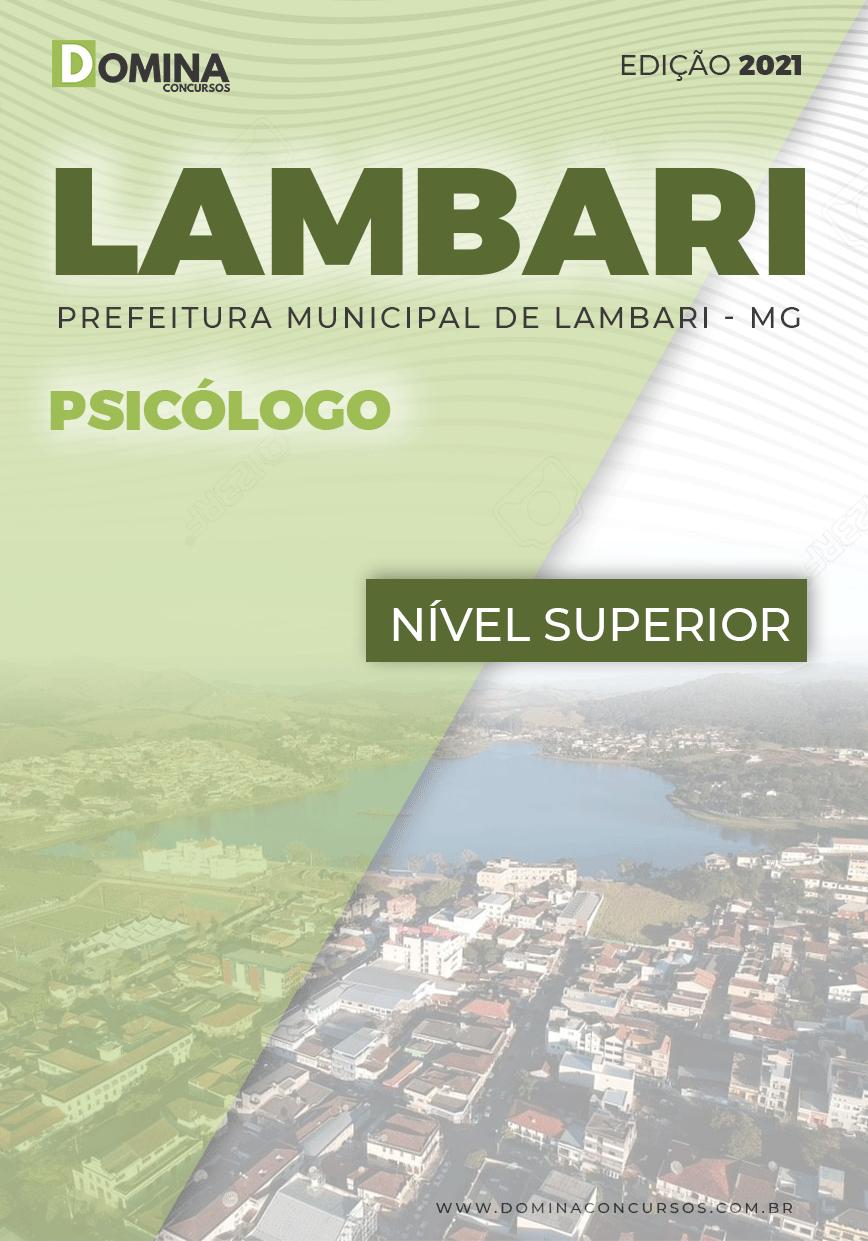 Apostila Concurso Público Pref Lambari MG 2021 Psicólogo
