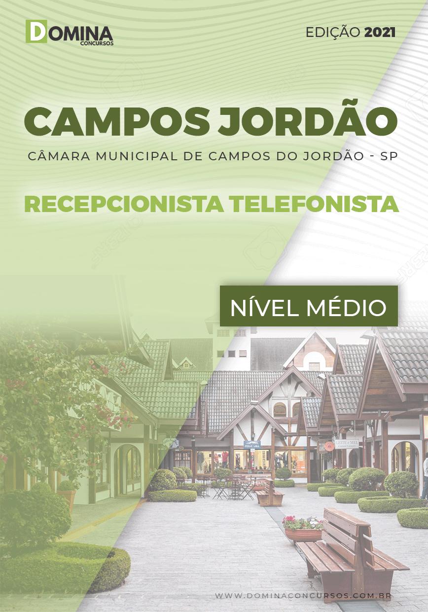 Apostila Câmara Campos Jordão SP 2021 Recepcionista Telefonista
