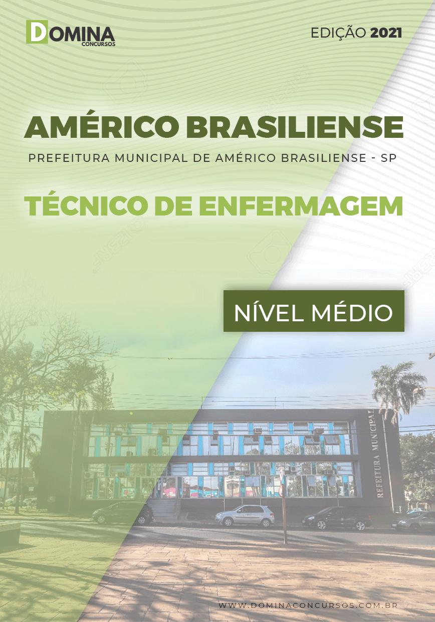 Apostila Pref Américo Brasiliense SP 2021 Técnico de Enfermagem