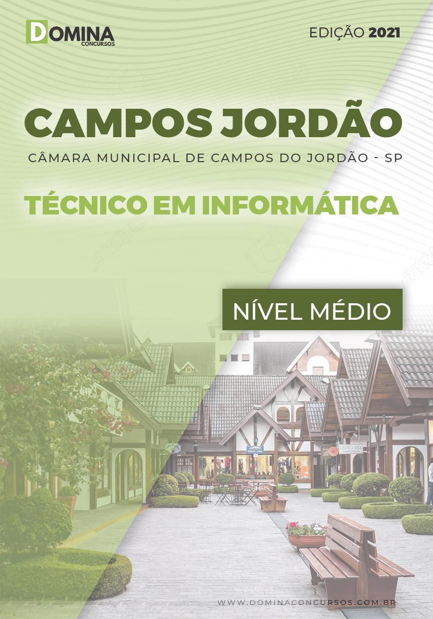 Apostila Câmara Campos Jordão SP 2021 Técnico em Informática