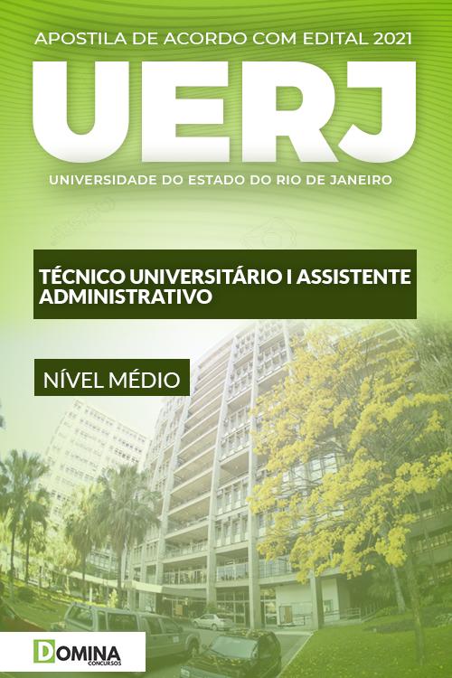 Apostila UERJ 2021 Técnico Universitário I Assistente Administrativo