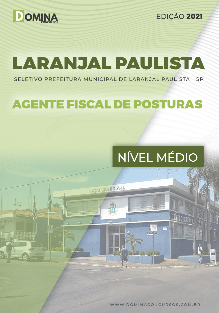 Apostila Pref Laranjal Paulista SP 2021 Agente Fiscal de Posturas