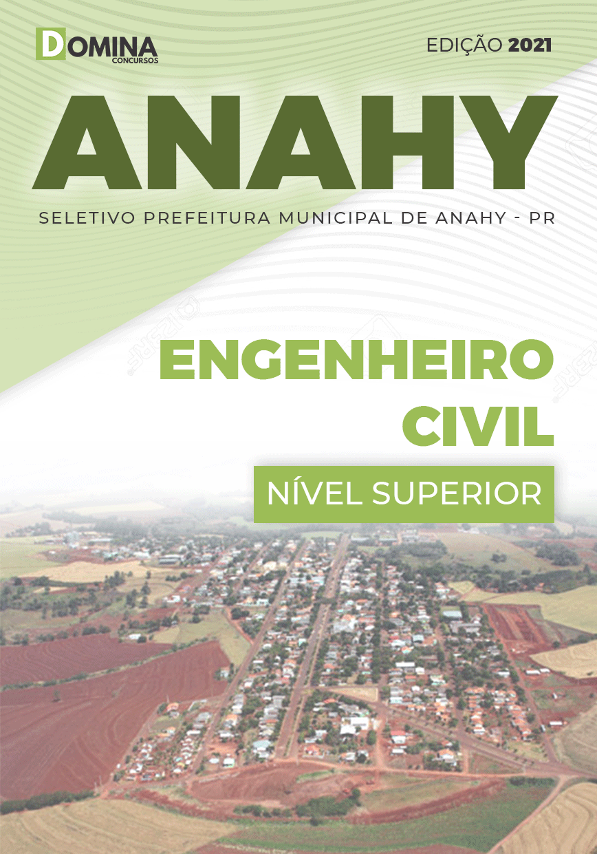 Apostila Seletivo Pref Anahy PR 2021 Engenheiro Civil