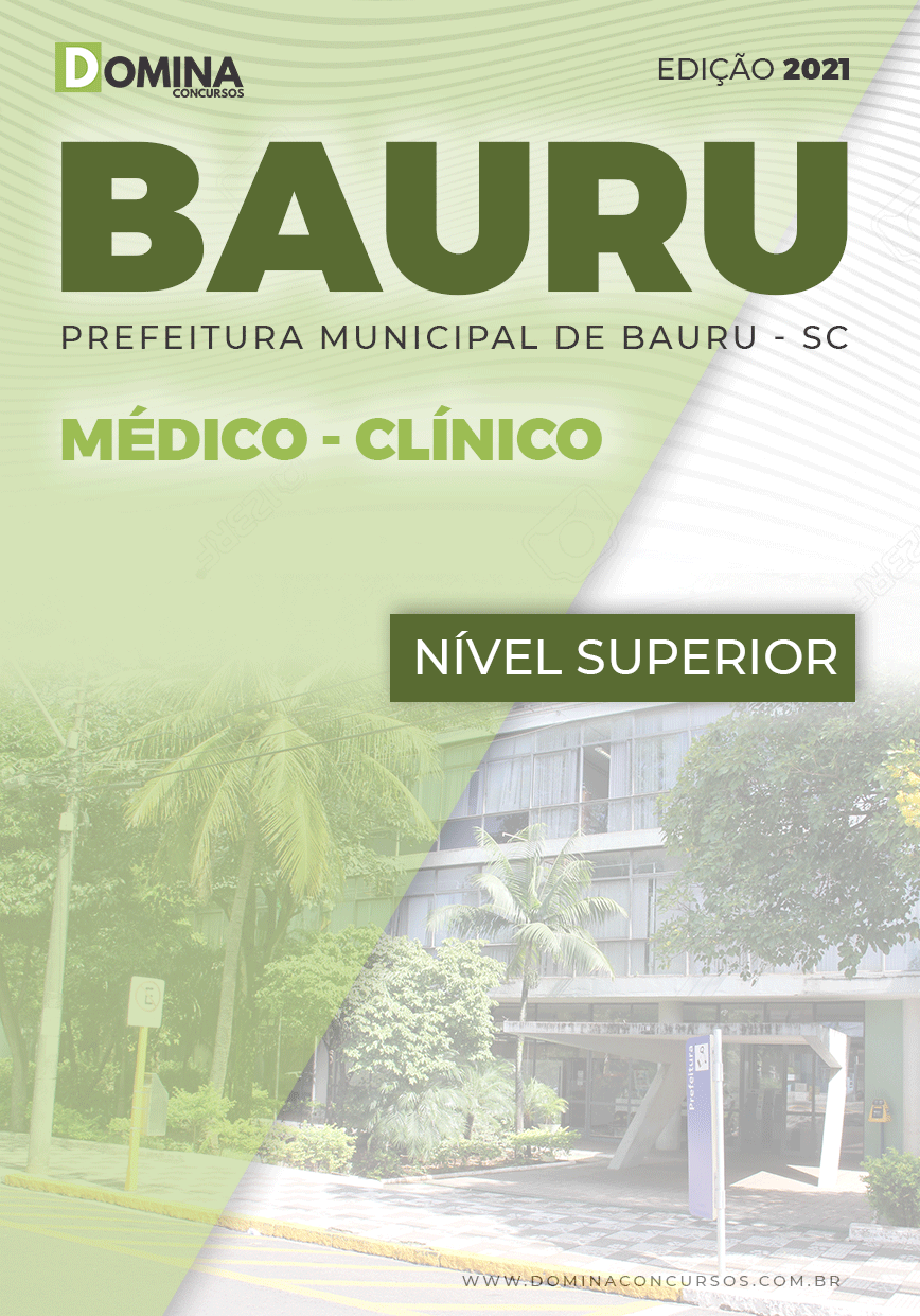 Apostila Concurso Pref Bauru SP 2021 Médico Clínico