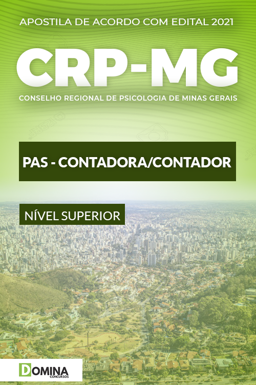 Apostila Concurso Público CRP MG 2021 PAS Contador