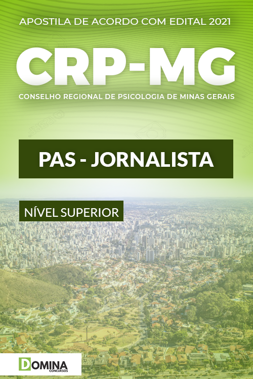 Apostila Concurso Público CRP MG 2021 PAS Jornalista