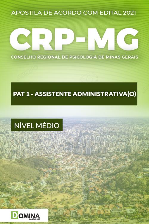 Apostila Concurso CRP MG 2021 PAT 1 Assistente Administrativo