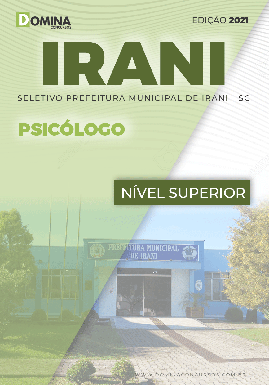Apostila Processo Seletivo Pref Irani SC 2021 Psicólogo
