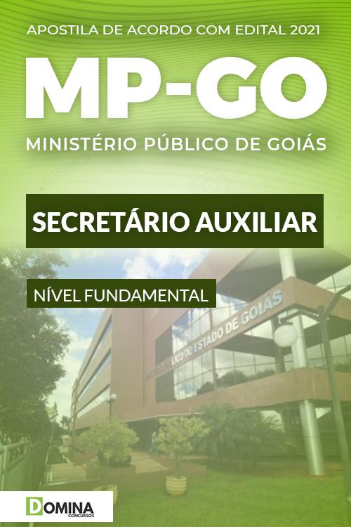 Apostila Concurso Público MP GO 2021 Secretário Auxiliar