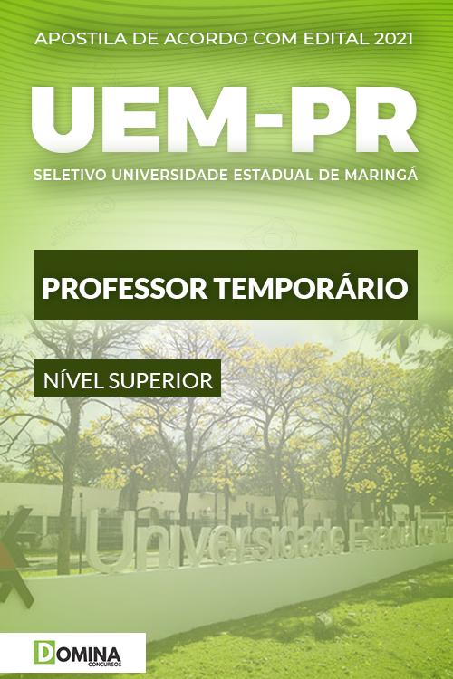 Apostila Processo Seletivo UEM PR 2021 Professor Temporário